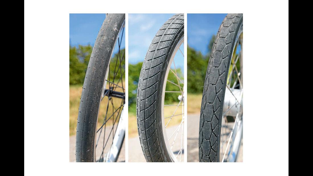 Test: Klappräder, Reifen