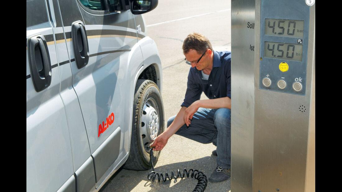 Testfahrt: Fahrwerksoptimierung, Reifen