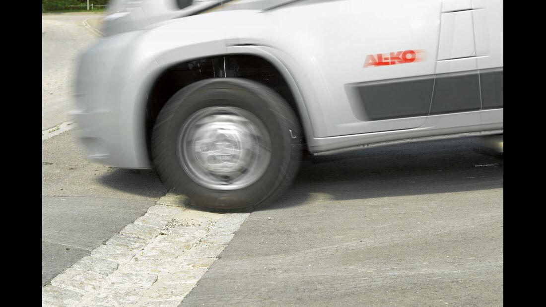 Testfahrt: Fahrwerksoptimierung, Vorderachse