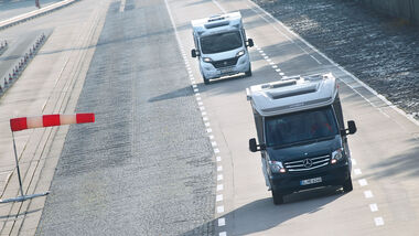 Teststrecke mit Mercedes Sprinter und Fiat Ducato
