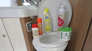 Toilettenpflege Kassettentoilette