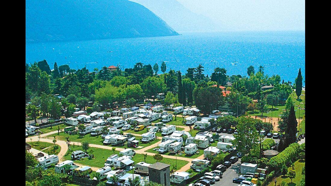 Torbole sul Garda: Der Stellplatz ist nur ein Zwei-Tage-Domizil.
