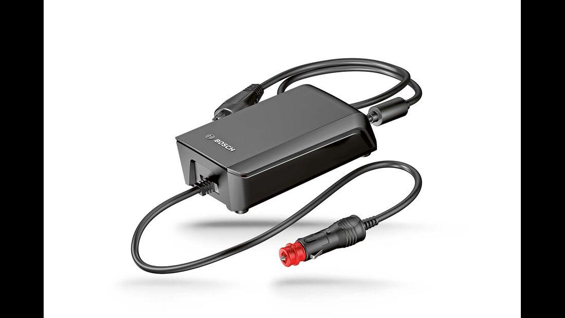 TravelCharger von Bosch lädt mittels Adapter auch ältere Bosch-Akkus.