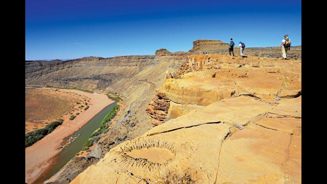 Trekking durch den Fishriver Canyon in Namibia