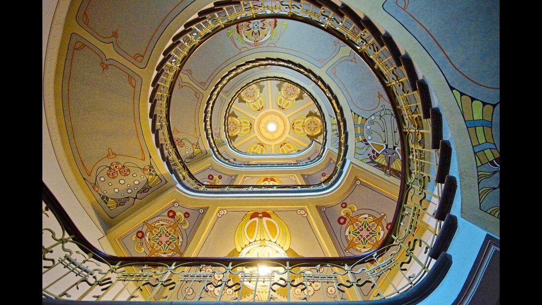 Treppenhaus in Rigas Jugendstilmuseum
