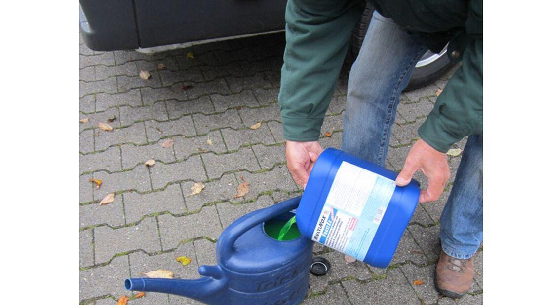 Trinkwasseranlagen können selten vollständig entleert werden. Frostschutzmittel-Reste können der Gesundheit schaden.