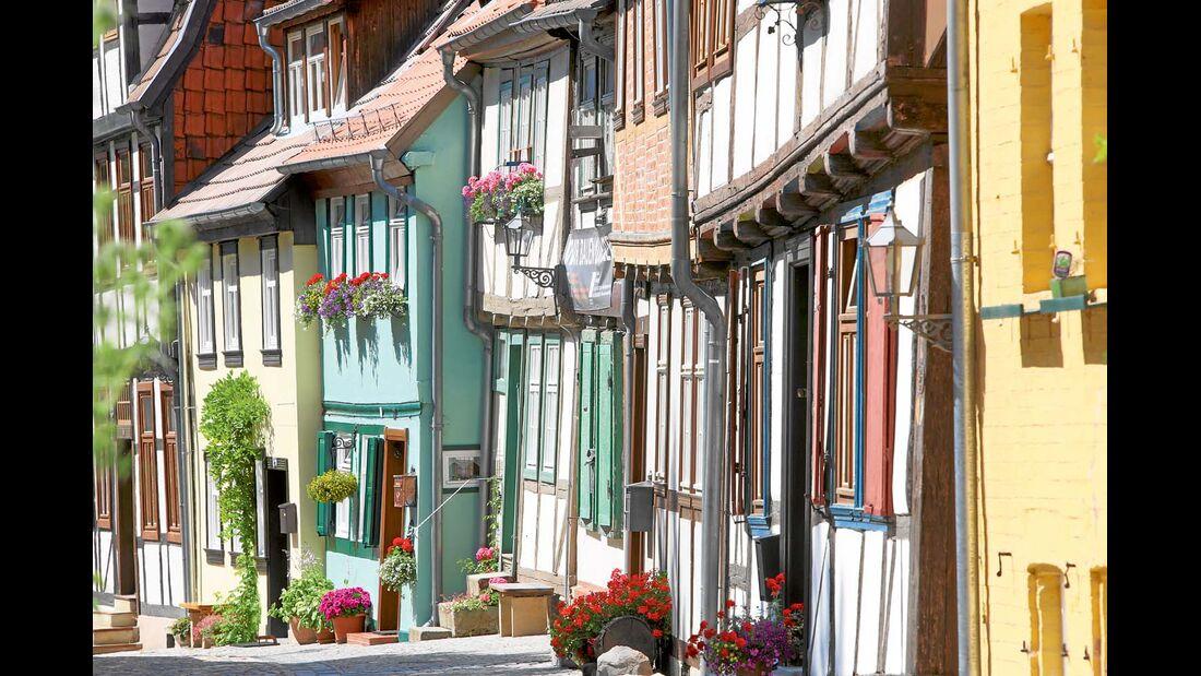 Über 1000 Fachwerkhäuser gibt es in Quedlinburg.