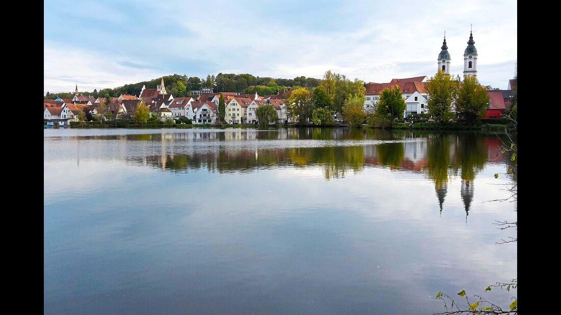 Ufer des Stadtsees von Bad Waldsee