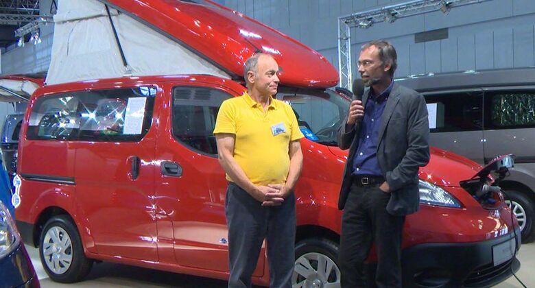 Ulrich Kohstall mit Zooom Stadtindianer auf Nissan eNV200