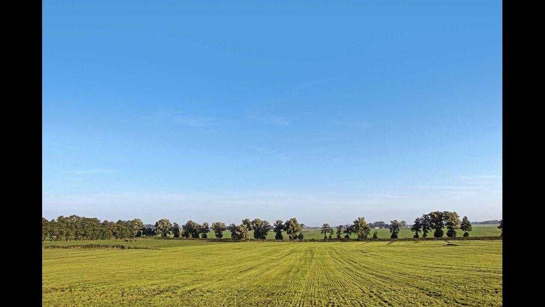 Untere Elbe Altes Land Feld Gemeinde Wingst