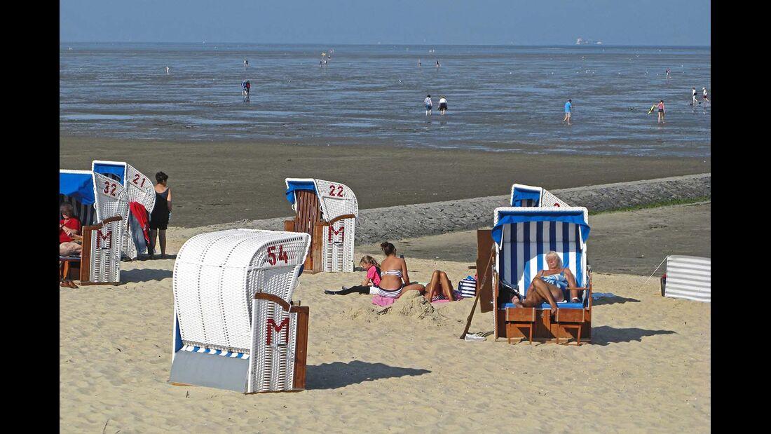 Untere Elbe Altes Land Strand Cuxhaven