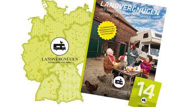 Urlauber können mit dem Stellplatzführer Landvergnügen mehr als 230 Landwirtschaftsbetriebe in Deutschland besuchen und auf den Höfen kostenfrei übernachten. Dahinter steckt ein besonderes Konzept.