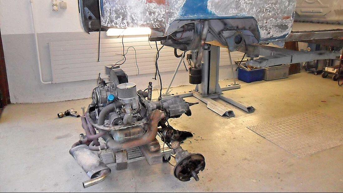 VW-Bus T1 Motor und Getriebe