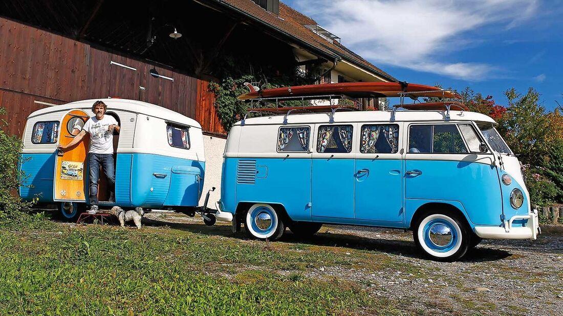 VW-Bus T1 mit Westfalia-Wohnwagen 310-4