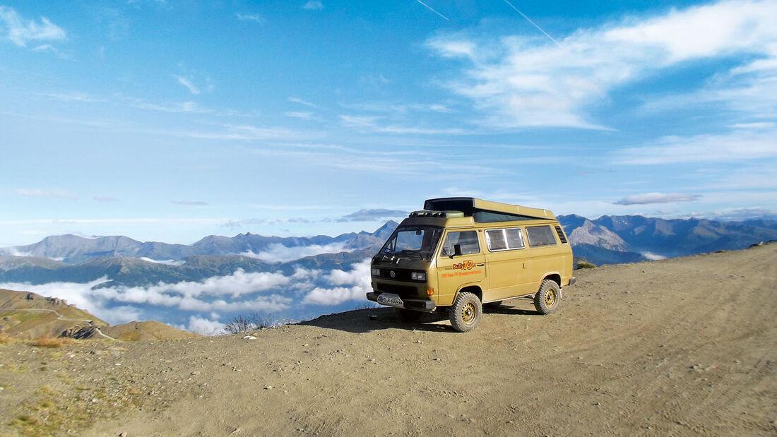 VW Syncro-T3 auf dem Monte Jafferau