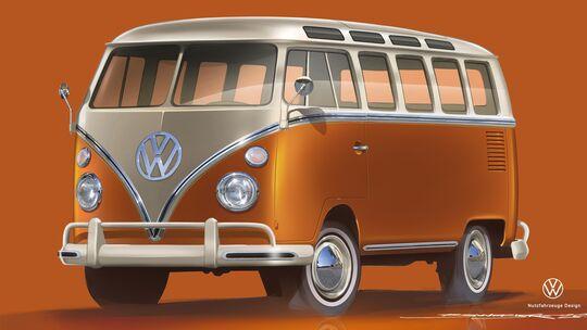 VW T1 Elektrobulli Samba