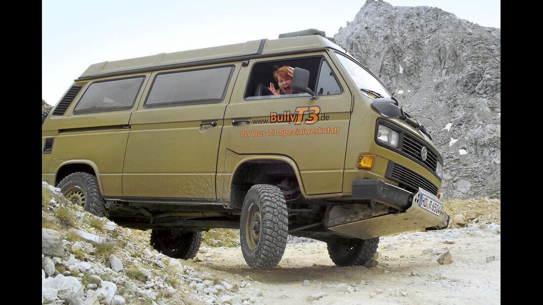 VW T3 Allrad in den Alpen