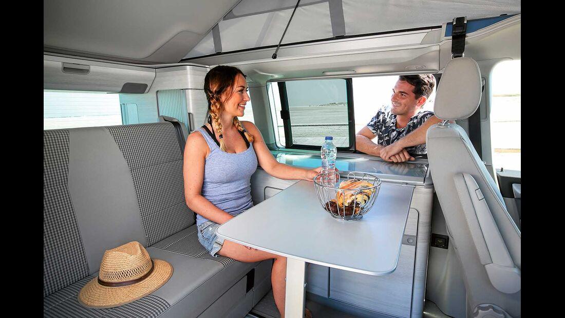 VW T6 California Coast Sitzgruppe
