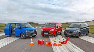VW T6, Ford Transit und Mercedes Vito