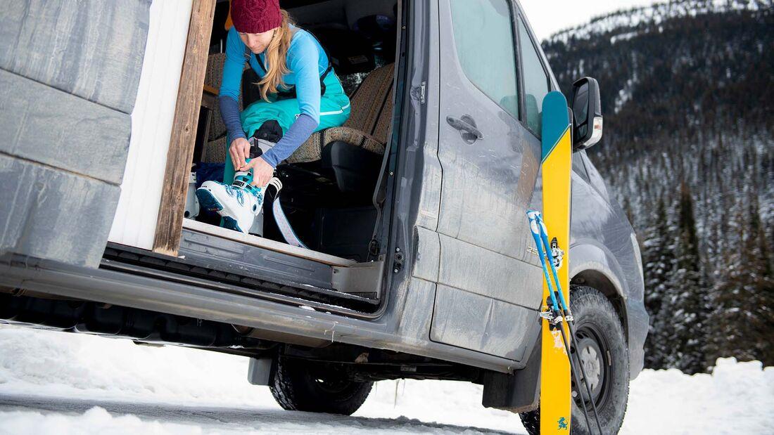 Vanlife, Wintercamping, Wintersport