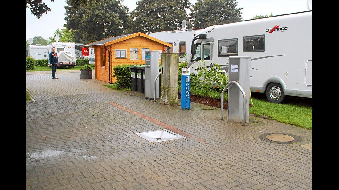 Ver- und Entsorgung Stellplatz Rees