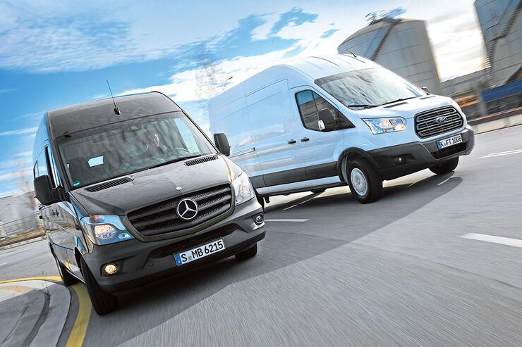 Vergleich: Ford Transit / Mercedes Sprinter