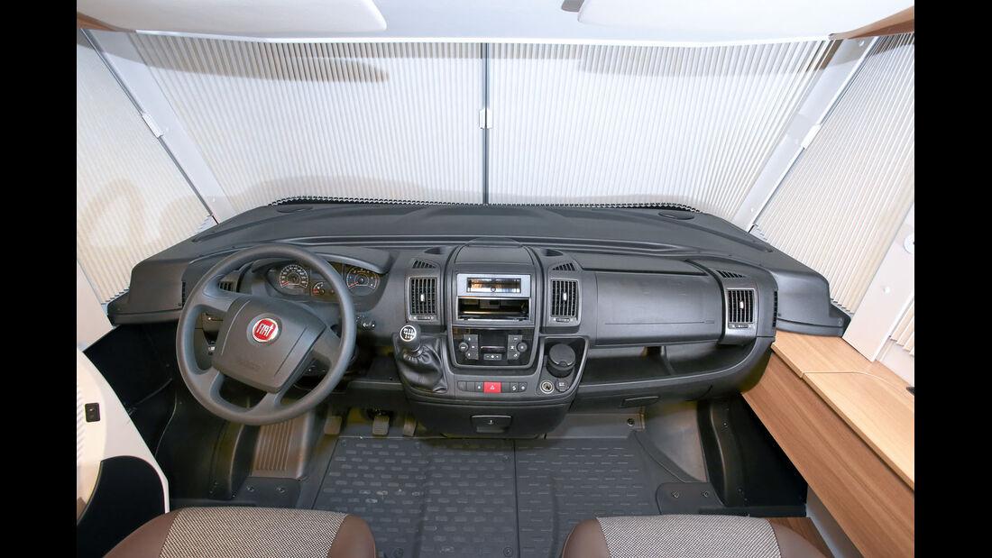 Vergleich: Integrierten-Cockpits, Armaturenbrett Dethleffs