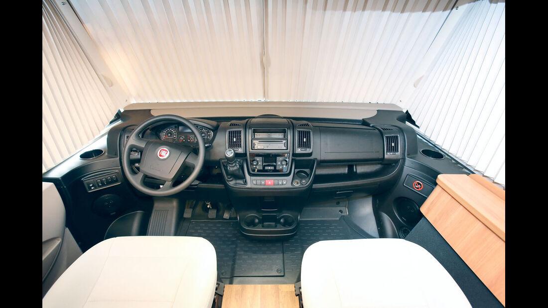 Vergleich: Integrierten-Cockpits, Armaturenbrett Hymer