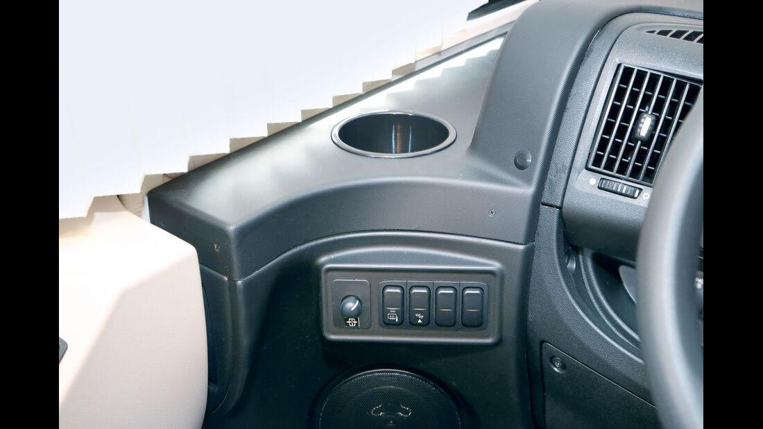Vergleich: Integrierten-Cockpits, Cupholder