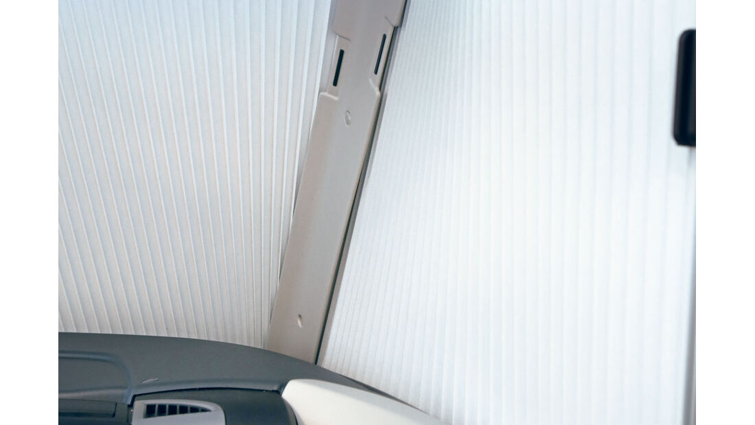 Vergleich: Integrierten-Cockpits, Faltrollos