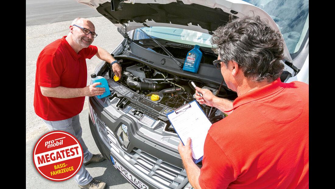 Vergleichstest, Basisfahrzeuge, Servicefreundlichkeit