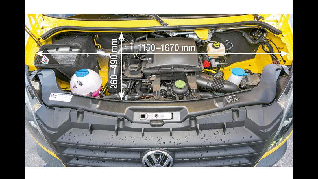 Vergleichstest, Basisfahrzeuge, Servicefreundlichkeit: VW-Motor