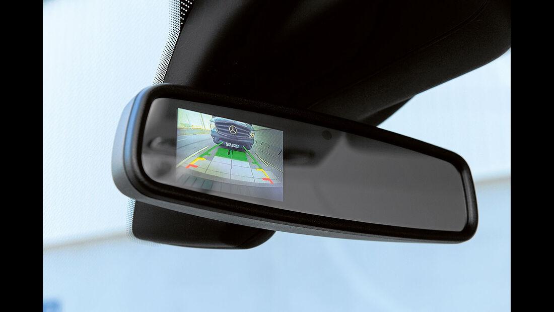 Vergleichstest, Basisfahrzeuge, Sicherheit: Transit-Rückfahrkamera