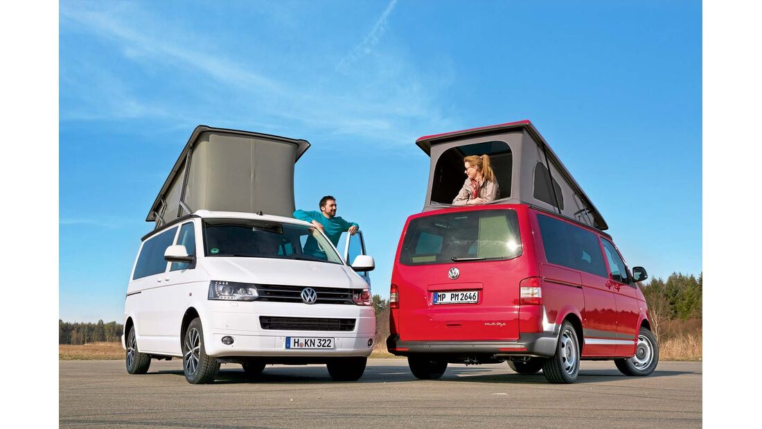 Vergleichstest Reimo Multi Style VW California