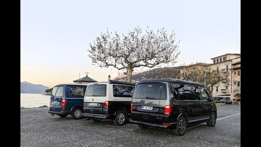 Vergleichstest Reimo, VW California, Köhler Sunvan