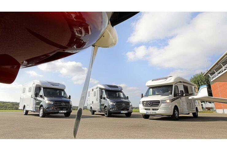 Vergleichstest: Frankia gegen Hymer gegen Carthago: Drei Teilintegrierte auf Mercedes-Basis im Vergleich