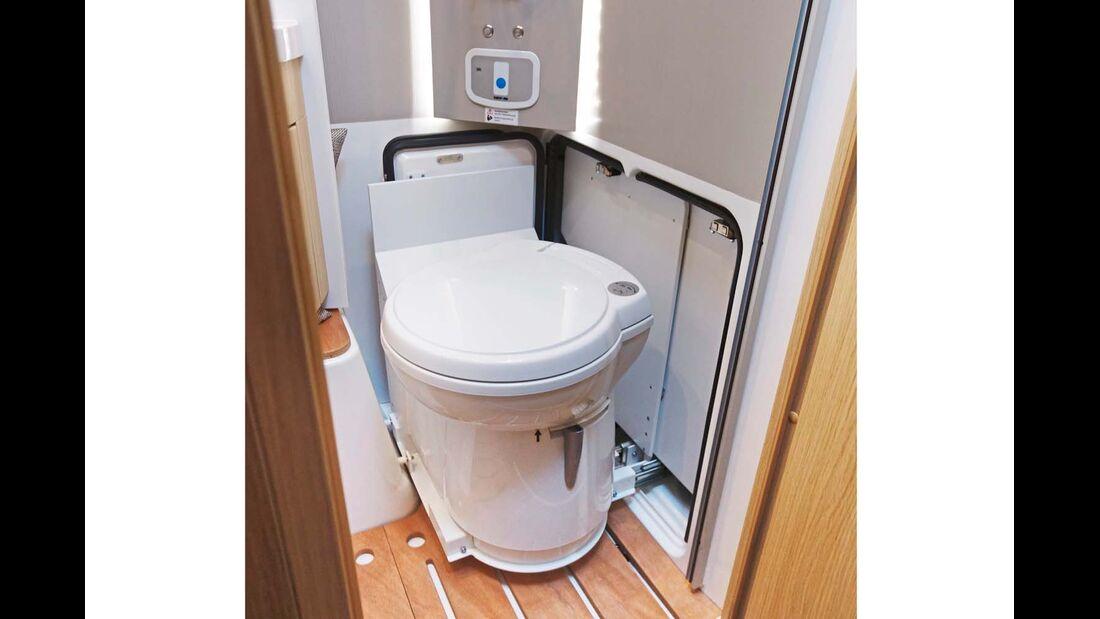 Verschiebbares WC