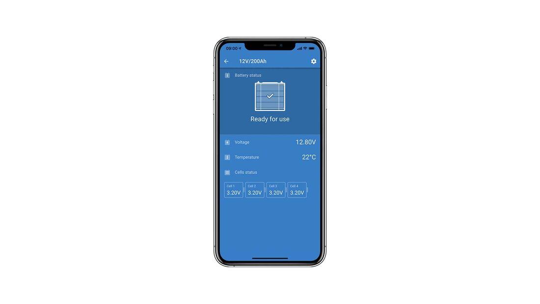 Victron App Lithium batterie 12,8 V Smart