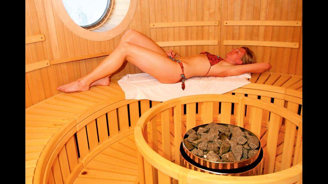 Viele Fähren des Nordens bieten Sauna und Wellness an.