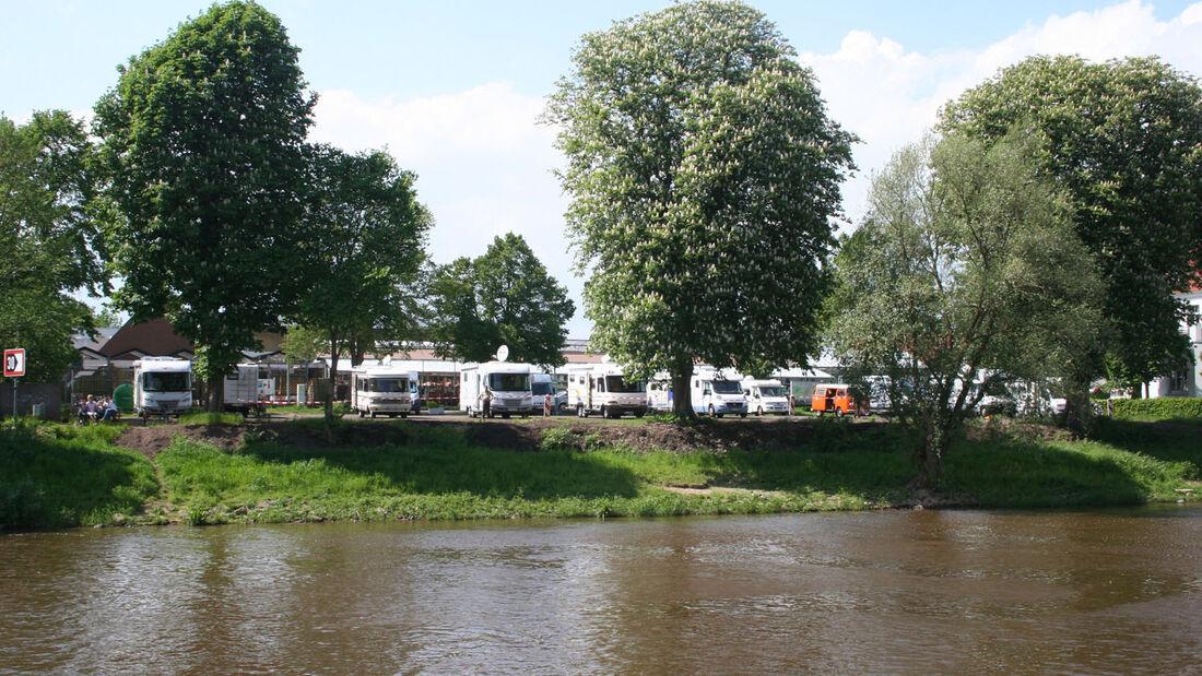 Viele Orte zwischen Porta Westfalicaund Bremen sind auch im Winter mit dem Wohnmobil reizvolle Urlaubsorte. Die ganzj�hrig ge�ffneten Reisemobil-Stellpl�tze sind daf�r geeignete Startorte.