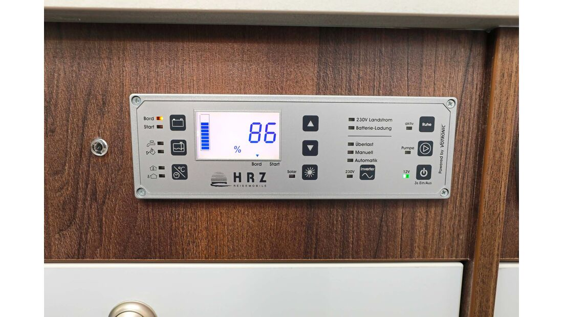Vielseitige und hochwertige Bordtechnikzentrale mit BUS-Technik.