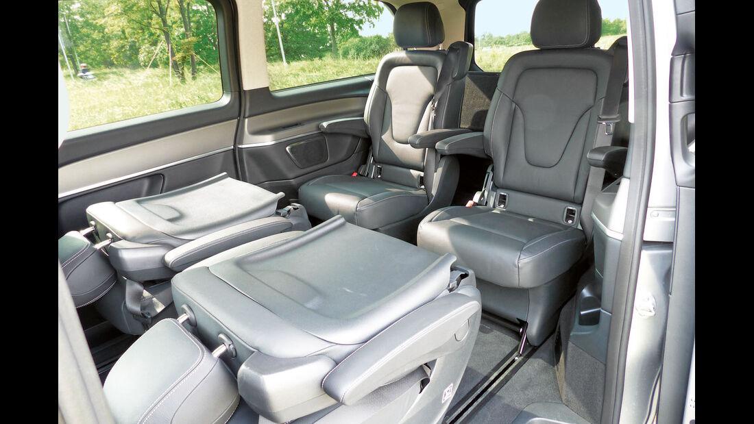 Vier Einzelsitze sind Serie beim Mercedes V 250