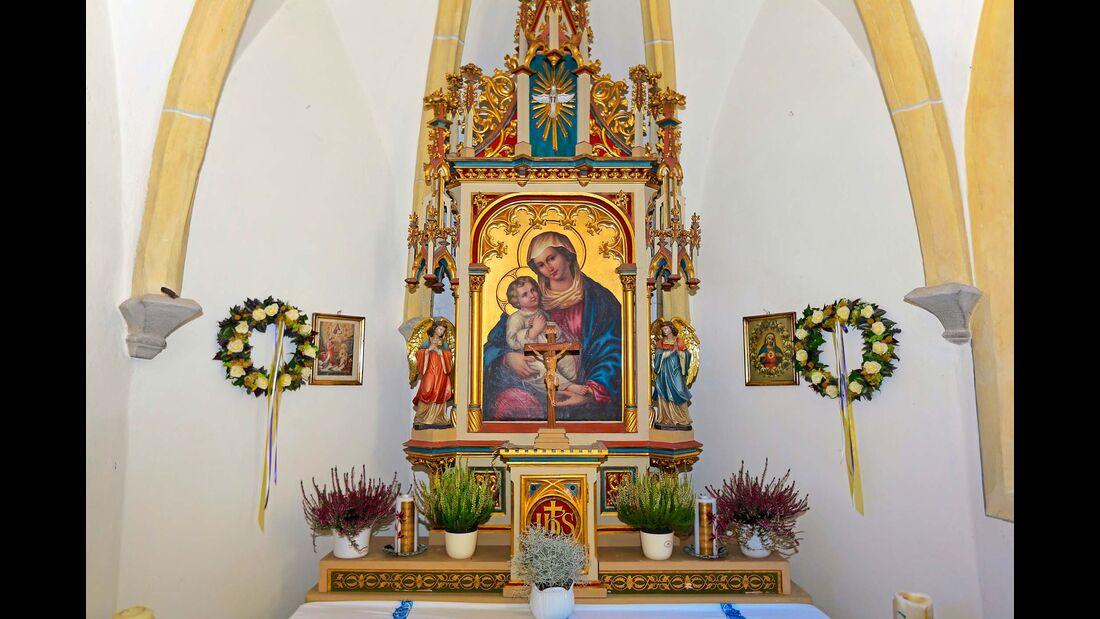 Vinschgau Altarschmuck Kapelle Santa Maria