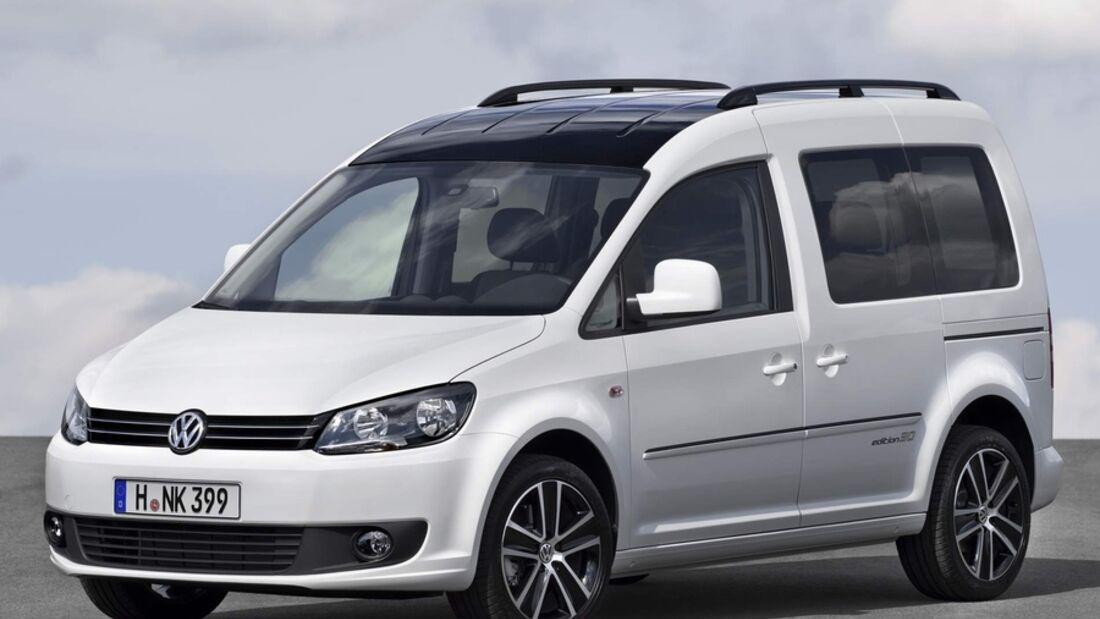 Volkswagen Nutzfahrzeuge zeigt auf der Frankfurter IAA das Sondermodell  Caddy Edition 30 mit hochwertiger Ausstattung