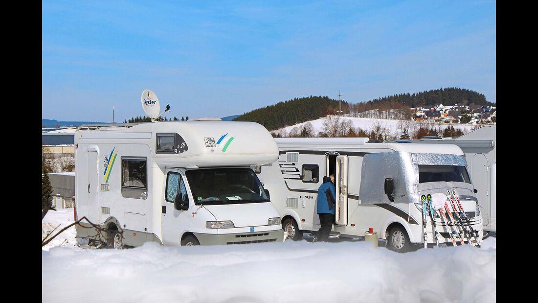 Vom Reisemobil geht's direkt auf die Piste – Campingpark Hochsauerland.