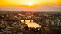 Von der Piazzale Michelangelo hat man den besten Ausblick auf Florenz.