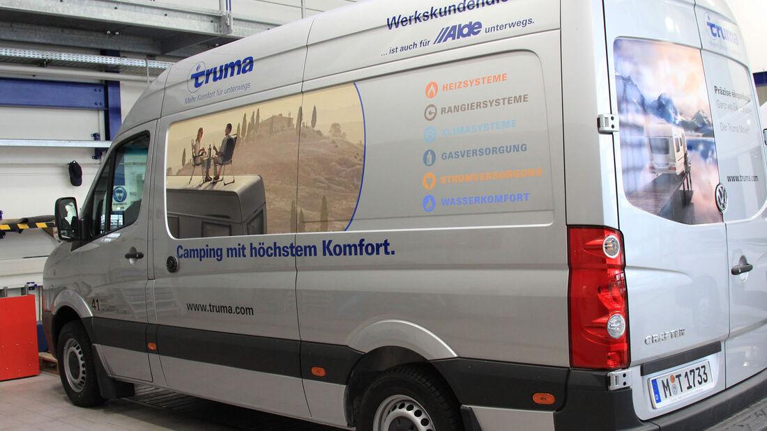 Während des Caravan Salon herrscht bei Truma Servicetechniker Klaus Zantop absoluter Ausnahmezustand