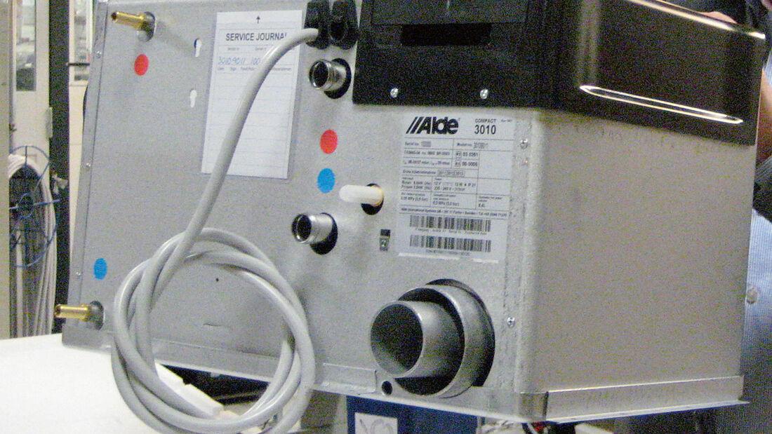 Warmwasserheizung im Wohnmobil