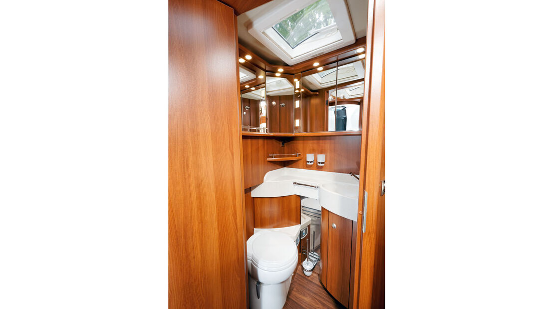 Waschraum beim Carthago Chic E-Line