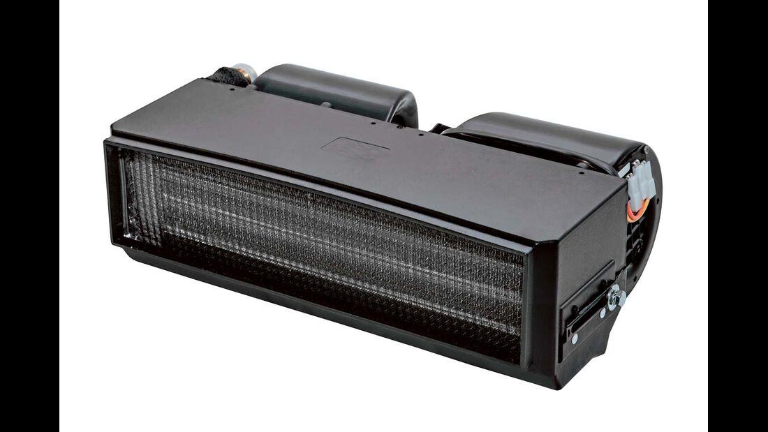 Webasto Blue Cool Drive ist ein regulierbarer Zusatzverdampfer, der an die Motor-Klimaanlage angeschlossen wird und den Passagieren auf den hinteren Plätzen Kühlung bringt. (webasto.com)